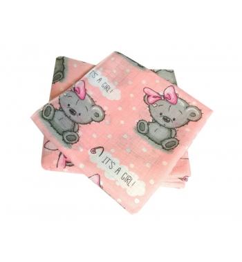 Муслиновые пеленки 90х80 Мишки