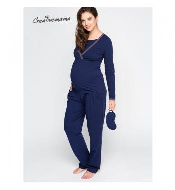 Пижама для беременных и кормящих CreativeMama BLUEMARINE