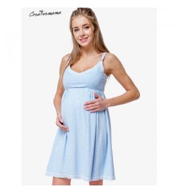 Ночная рубашка для беременных и кормящих CreativeMama ATLANTIK