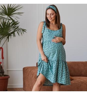 Летнее шёлковое платье для беременных и кормящих Maldives