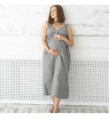 Льняной сарафан для беременных и кормящих Lullababe San Diego