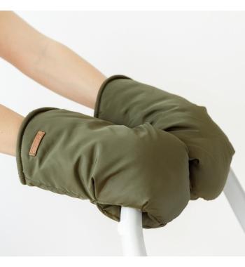 Рукавички для коляски MagBaby на флисе хаки, коричневые